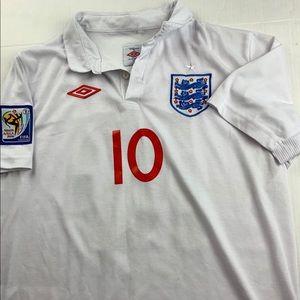 Wayne Rooney #10 England World Cup Jersey XL